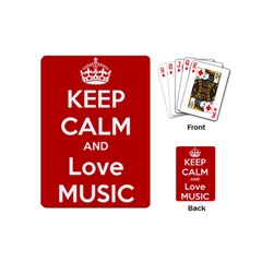 Keep Calm And Love Music 5739 Playing Cards (mini) by SuperFunHappyTime