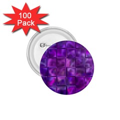 Purple Squares 1.75  Button (100 pack) by KirstenStar