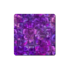 Purple Squares Magnet (square) by KirstenStar