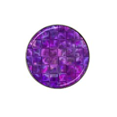 Purple Squares Golf Ball Marker 10 Pack (for Hat Clip) by KirstenStar