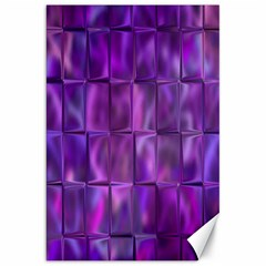 Purple Squares Canvas 20  X 30  (unframed) by KirstenStar