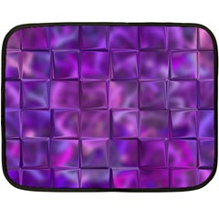 Purple Squares Mini Fleece Blanket (two Sided) by KirstenStar