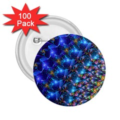 Blue Sunrise Fractal 2 25  Button (100 Pack) by KirstenStar