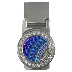 Blue Sunrise Fractal Money Clip (cz) by KirstenStar