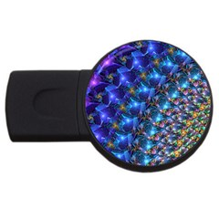 Blue Sunrise Fractal USB Flash Drive Round (1 GB) by KirstenStar