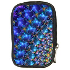 Blue Sunrise Fractal Compact Camera Leather Case by KirstenStar