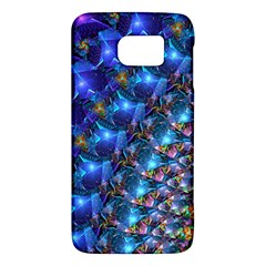 Blue Sunrise Fractal Samsung Galaxy S6 Hardshell Case  by KirstenStar