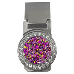 Purple Tribal Abstract Fish Money Clip (cz) by KirstenStar