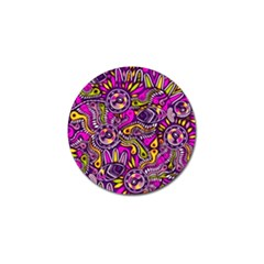Purple Tribal Abstract Fish Golf Ball Marker 10 Pack by KirstenStar