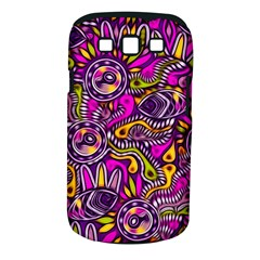 Purple Tribal Abstract Fish Samsung Galaxy S Iii Classic Hardshell Case (pc+silicone) by KirstenStar
