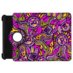 Purple Tribal Abstract Fish Kindle Fire Hd Flip 360 Case by KirstenStar
