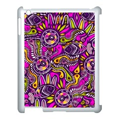 Purple Tribal Abstract Fish Apple Ipad 3/4 Case (white) by KirstenStar