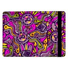 Purple Tribal Abstract Fish Samsung Galaxy Tab Pro 12 2  Flip Case by KirstenStar