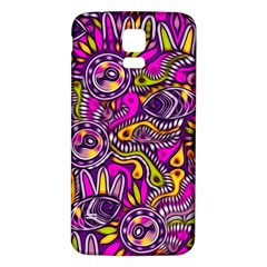 Purple Tribal Abstract Fish Samsung Galaxy S5 Back Case (White) by KirstenStar