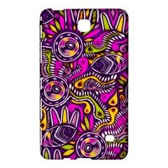 Purple Tribal Abstract Fish Samsung Galaxy Tab 4 (8 ) Hardshell Case  by KirstenStar