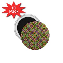 Multicolor Geometric Ethnic Seamless Pattern 1 75  Button Magnet (10 Pack) by dflcprints