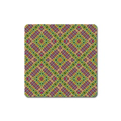Multicolor Geometric Ethnic Seamless Pattern Magnet (square) by dflcprints