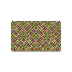Multicolor Geometric Ethnic Seamless Pattern Magnet (name Card) by dflcprints