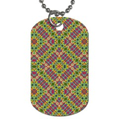 Multicolor Geometric Ethnic Seamless Pattern Dog Tag (two Sided)  by dflcprints