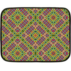 Multicolor Geometric Ethnic Seamless Pattern Mini Fleece Blanket (two Sided)