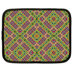 Multicolor Geometric Ethnic Seamless Pattern Netbook Sleeve (xxl) by dflcprints