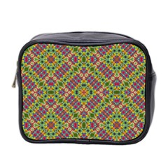 Multicolor Geometric Ethnic Seamless Pattern Mini Travel Toiletry Bag (two Sides) by dflcprints