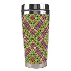 Multicolor Geometric Ethnic Seamless Pattern Stainless Steel Travel Tumbler by dflcprints