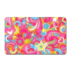 Hippy Peace Swirls Magnet (Rectangular) by KirstenStar