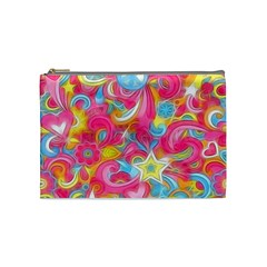 Hippy Peace Swirls Cosmetic Bag (medium) by KirstenStar