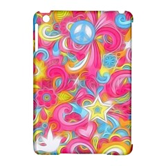 Hippy Peace Swirls Apple Ipad Mini Hardshell Case (compatible With Smart Cover) by KirstenStar