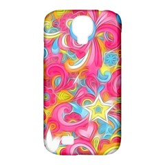Hippy Peace Swirls Samsung Galaxy S4 Classic Hardshell Case (pc+silicone) by KirstenStar