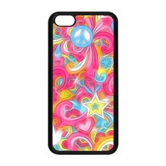 Hippy Peace Swirls Apple Iphone 5c Seamless Case (black) by KirstenStar