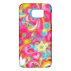 Hippy Peace Swirls Samsung Galaxy S6 Hardshell Case  by KirstenStar