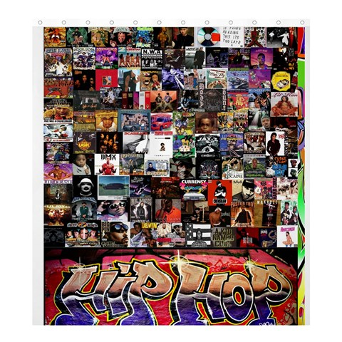 Hiphop By Max Powell   Shower Curtain 66  X 72  (large)   Soklvunr8ij9   Www Artscow Com 58.75 x64.8 Curtain