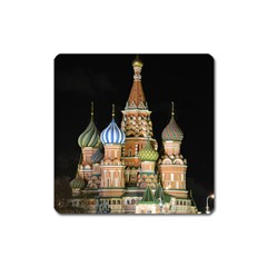 Saint Basil s Cathedral  Magnet (square) by anstey