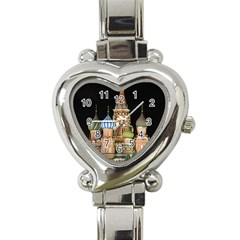Saint Basil s Cathedral  Heart Italian Charm Watch  by anstey