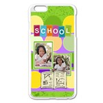 school - Apple iPhone 6 Plus/6S Plus Enamel White Case