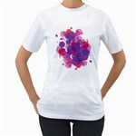 Abstract Two-Sided (Women) - Women s T-Shirt (White) (Two Sided)