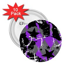 Purple Scene Kid 2 25  Button (10 Pack) by ArtistRoseanneJones