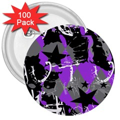 Purple Scene Kid 3  Button (100 Pack) by ArtistRoseanneJones