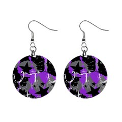 Purple Scene Kid Mini Button Earrings