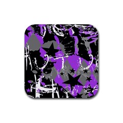 Purple Scene Kid Drink Coaster (Square) by ArtistRoseanneJones