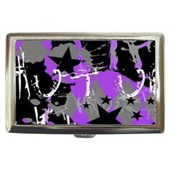 Purple Scene Kid Cigarette Money Case by ArtistRoseanneJones