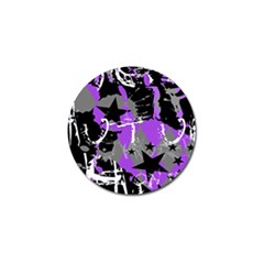 Purple Scene Kid Golf Ball Marker 4 Pack by ArtistRoseanneJones