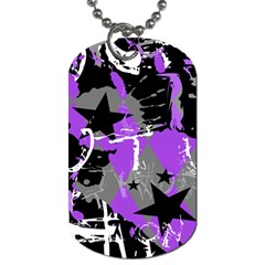 Purple Scene Kid Dog Tag (two Sided)  by ArtistRoseanneJones
