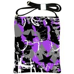 Purple Scene Kid Shoulder Sling Bag by ArtistRoseanneJones
