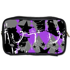 Purple Scene Kid Travel Toiletry Bag (two Sides) by ArtistRoseanneJones
