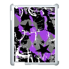 Purple Scene Kid Apple Ipad 3/4 Case (white) by ArtistRoseanneJones