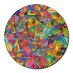 Colorful Autumn 8  Mouse Pad (Round)
