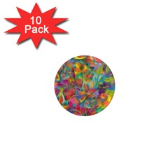 Colorful Autumn 1  Mini Button Magnet (10 Pack) by KirstenStar